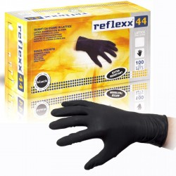 Reflexx 44 - S Nero - 100 guanti in lattice