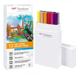 Tombow Dual brush Set 12 Pennarelli Primary Colours