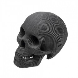 CARDBOARD - Micro VINCE Cardboard Human Skull BLACK