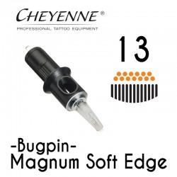 Cartridge Cheyenne Magnum Soft Edge 13 - 0,35mm BugPin Long Taper 10pcs