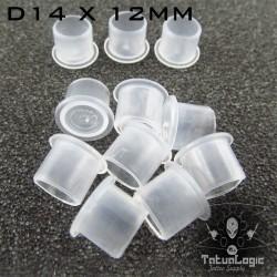 Cups Porta pigmento D14X12MM 1000Pcs Trasparenti