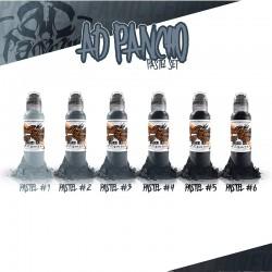 A.D. Pancho Pastel Gray Set 6pz 30ml - World Famous Ink