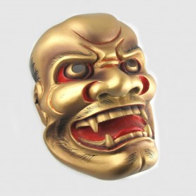 Maschera in Resina Shishiguchi Dipinta a mano