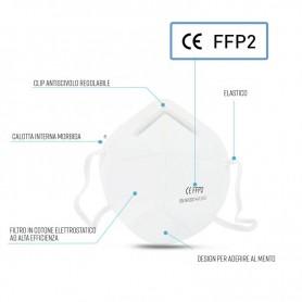 Mascherina Filtrante FFP2 Monouso conf: 2 pz