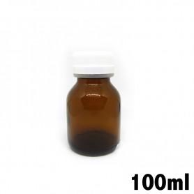 Recipiente in vetro ambrato 100ml