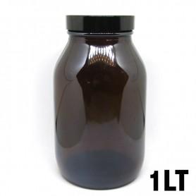 Recipiente in vetro ambrato 1LT