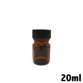 Recipiente in vetro ambrato 20ml