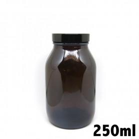 Recipiente in vetro ambrato 250ml