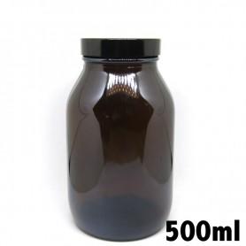 Recipiente in vetro ambrato 500ml