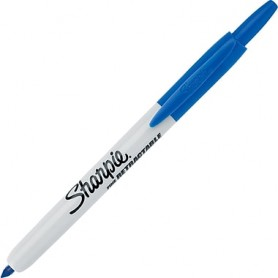 Sharpie® Retractable Permanent Markers, Ultra Fine Point BLU