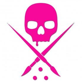 Sticker Badge Die Cut 25cm Pink