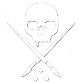 Sticker Badge Die Cut 25cm White