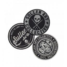 Sullen Logo Velcro Patch Pack 3pcs