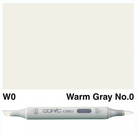 W-0  Copic Ciaol Warm Gray No.0