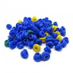 Grommets per ago blu/verde/giallo silicon soft 100pz
