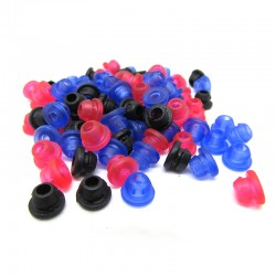Grommets per ago nero/blu/rosso silicon hard 100pz