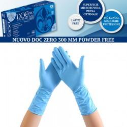 GUANTI DOC zero M (8) -  Azzurro NITRILE 30cm