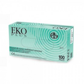 Eko Plus - Guanti in Lattice Bianco Naturale - M