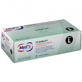 Med+S® FZ Quality 100 Guanti in Lattice Bianco Naturale - L