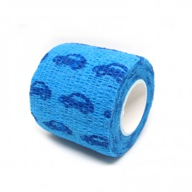 Benda Coadesiva Per Bendaggio Grip - Azzurro Macchinine