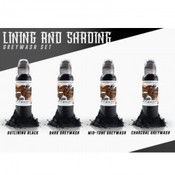 Lining And Shading Set 4pz 30ml - World Famous Ink