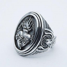 Silverbone Anello Sacred Heart Rock Ring - Size 20