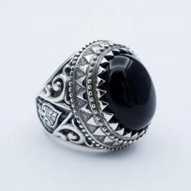 Silverbone Anello Black Ace