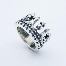Silverbone Anello King Crown - Size 16