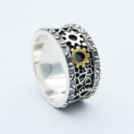 Silverbone Anello Clockwork Ring - Size 24
