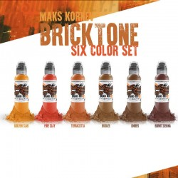 Mark Konrev Brick Tone Set 6pz 30ml - World Famous Ink