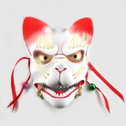 Maschera in Resina Kitsune Dipinta a mano