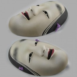 Maschera in Resina Ko-Omote Dipinta a mano