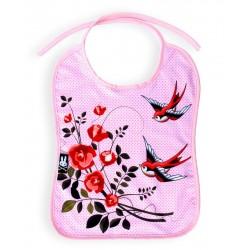 BABY BIBS - ROSES & BIRDS