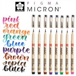 Pigma astuccio 9 Brush Pens