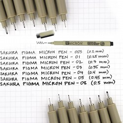 PIGMA MICRON® SAKURA - 08 (0.50mm) Black