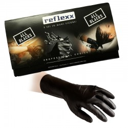 Reflexx N79 plus -S Nero - 50 guanti in Nitrile Extra long