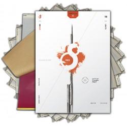 S8 Red Stencil  Paper 11 - 100PZ (21cm x 28cm)