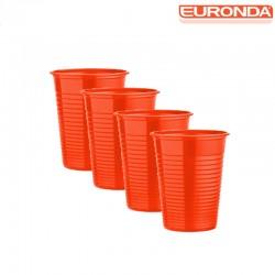Bicchieri Euronda 100pz - Arancio