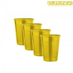 Bicchieri Euronda 100pz - Giallo