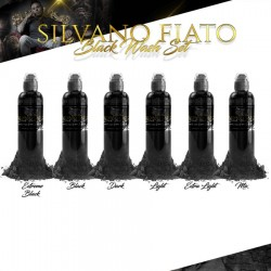 Silvano Fiato Black Wash Set 6pz 30ml (1oz) - World Famous Ink