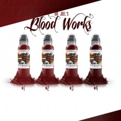 Big Joel\'s Blood Works Set 4pz x 30ml - World Famous Ink