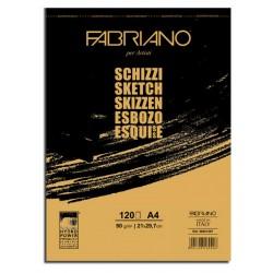 Blocco Schizzi A4 Fabriano 120 sketch 90g