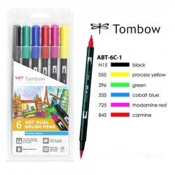 Tombow Dual brush Set 6 Pennarelli Primary Colours