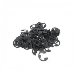 E-clip in ossido nero - 100 pz  5/16