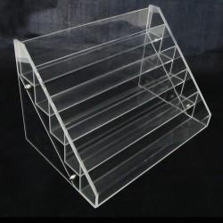 Espositore in Plexiglass 5 ripiani Trasparente