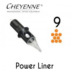 Cartridge Cheyenne Power Liner 09 - Long Taper 0,40mm 10pcs