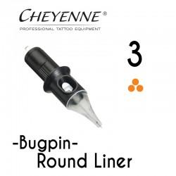 Cartridge Cheyenne Round Liner 03 - BugPin Long Taper 0,30mm 10pcs