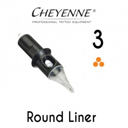 Cartridge Cheyenne Round Liner 03 - Micro Long Taper 0,25mm 10pcs