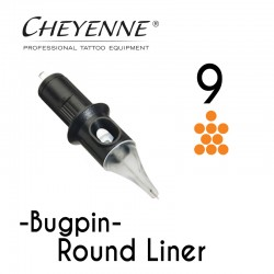 Cartridge Cheyenne Round Liner 09 - BugPin Long Taper 0,30mm 10pcs