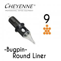 Cartridge Cheyenne Round Liner 09 - BugPin Long Taper 0,30mm 10pcs